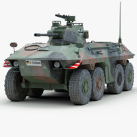 3d model german luchs armoured fighting vehicle