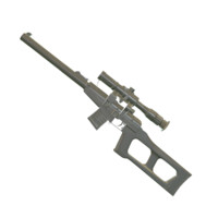 vss pso-1 bullets rifle 3d obj