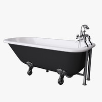 vintage bathtub essex 3d max