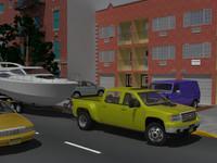 3d model gmc sierra hd crew