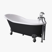 3d model vintage bathtub kent