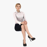 woman business 3d model