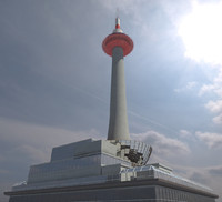 kyoto tower 3d max