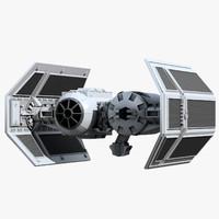tie bomber 3d model