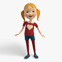 3d model of cartoon character girl