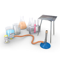 laboratory items 3d model
