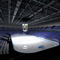 3ds max ice hockey stadium