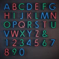 neon alphabet 3d model
