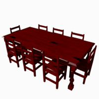 obj 8x4 dining table