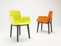 corona poliform chairs ventura 3d max