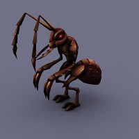 3d ant cartoon model