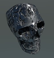 skull skul 3d obj