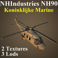 3d model nhindustries nh90 nrn helicopter