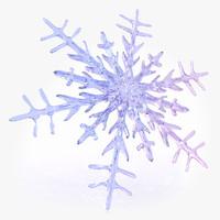 snow flake 3d max
