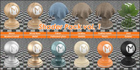 Shader Pack vol 1 for blender cycles