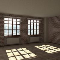 3d model of loft scene