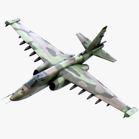 3d model shukoi su-25 frogfoot
