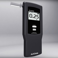3d alcohol breathalyser model