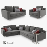 3ds max busnelli taylor sofa set