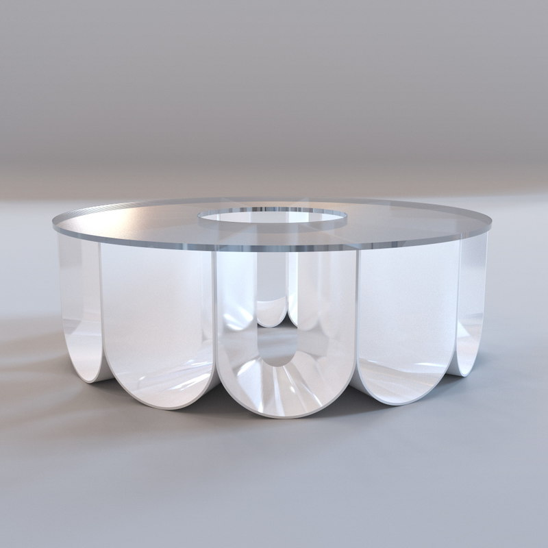 Max roche bobois iride for Table basse roche bobois