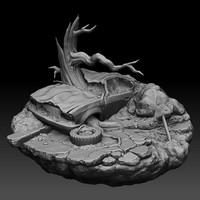 3d model landscapes apocalypse