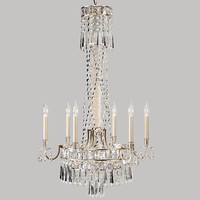 paulina crystal chandelier 3d model