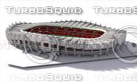 stadium parc des princes 3d max