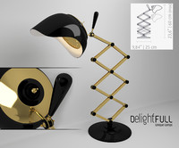 3d model table lamp billy