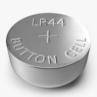 button cell battery lr44 3d model