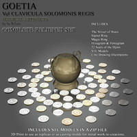 3d model seals goetia relief