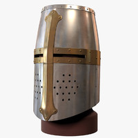 medieval great helm helmets 3d max
