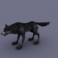 3d wolf cartoon model