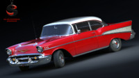 3d model chevrolet bel air 1956
