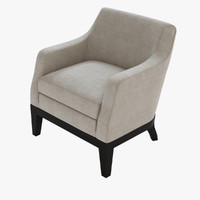 3d model aziza armchair