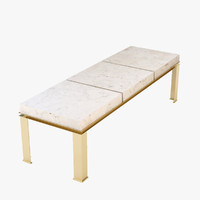3d luxury canovas coffee table model