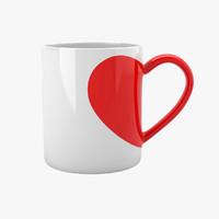 love tea cup 3d model