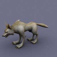 wolf cartoon 3d model