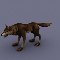 3d model wolf cartoon