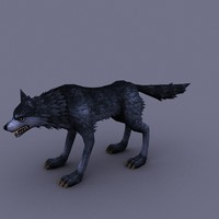 3ds max wolf cartoon