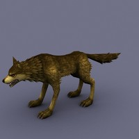 wolf cartoon 3d max