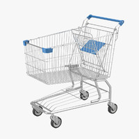 3d shopping cart model