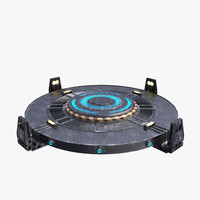 sci fi turntable 3d obj