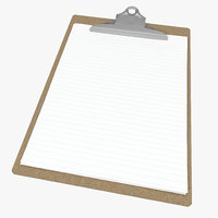 3d model clipboard modeled