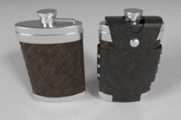 3d flask leather case
