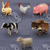 farm animal pack cartoon
