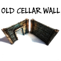 awesome old cellar wall 3d fbx