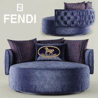 3d model chair fendi casa