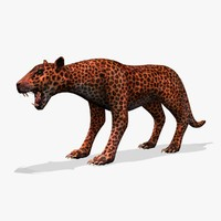 big cat 3d obj