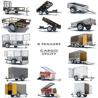 8 utility cargo trailer 3d max