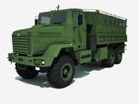 3d truck kraz 6322 raptor